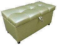 Пуф-банкетка с ящиком, зеленый Шарм Дизайн