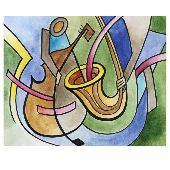 Постер в раме «Музыкальная абстракция», 40х50