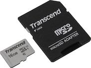 Карта памяти MicroSDHC 16 Гб Transcend (TS16GUSD300S)