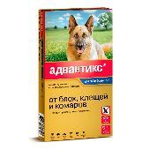 Капли для собак BAYER АДВАНТИКС от блох,