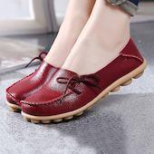 Женские из кожи туфли Другое Обуви на плоской