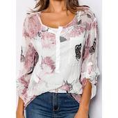 Pубашки Цветочный принт (01645369069) FloryDay