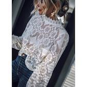 Элегантное Pубашки Длинные рукава Цвет сплошного