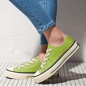 Женские из холста обуви на плоской подошве