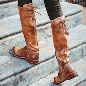 Женские ботинки молния Шнуровка Обуви на