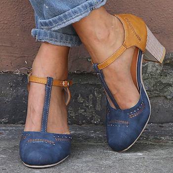 Женские туфли на устойчивым каблуке (01625501240)