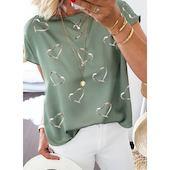 Pубашки Короткие рукава Геометрический принт