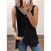 Pубашки Без рукавов Сочетание контрастных