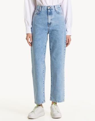 Прямые джинсы с высокой талией Gloria Jeans GJN017078, размер 170 Height, код 4680063746051