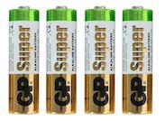 """Пальчиковые алкалиновые батарейки GP """"Super"""
