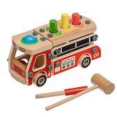 Деревянная развивающая игрушка стучалка-конструктор