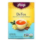Yogi Tea Detox, без кофеина, 16 чайных пакетиков