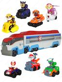 Игровой набор из 7 героев с машинками + Огромный