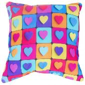 Подушка «Мелкие сердечки» 40х40 см SEASONS