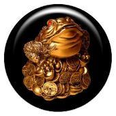 Объемный талисман-наклейка Лунная жаба АртСимвол