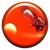 Объемный талисман-наклейка Орел, летящий