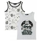 """Майки Disney """"Звездные войны"""", 2 шт., серый"""