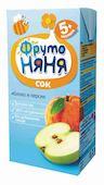 Сок ФрутоНяня яблоко/персик с 5мес 200мл
