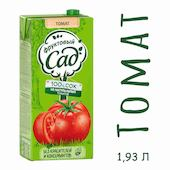 Сок Фруктовый Сад томат/сахар/соль 1.93л