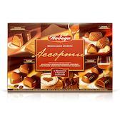 Конфеты шоколадные с кофейной, коньячной