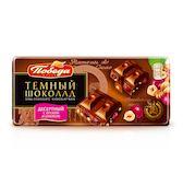 Шоколад десертный с орехом и изюмом Победа