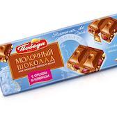 Шоколад молочный с орехом и изюмом Победа