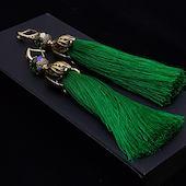 Серьги-кисти Wizard Brush - Emerald Бижутерия