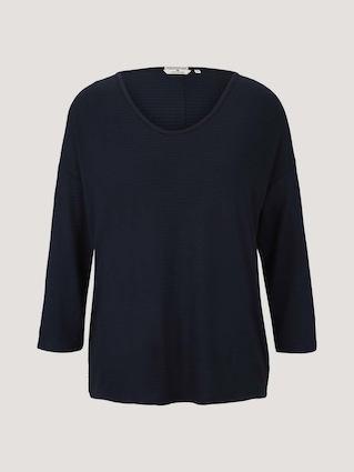 Лонгслив Tom Tailor, цвет синий, размер S