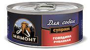 Влажный корм для собак Мамонт Суприм Говядина