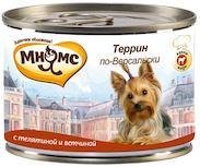 Влажный корм для собак Мнямс Террин по-Версальски
